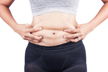 Women body fat belly