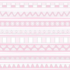 Pink hand drawn seamless background