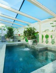 interior of a veranda with bath