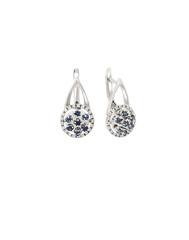 diamond earrings isolated on white