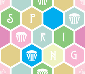 Vector decorative seamless Spring background