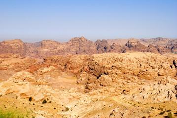 Panorama di Petra in Giordania