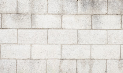 White cement block wall texture and background