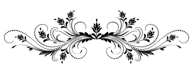 Decorative floral ornament