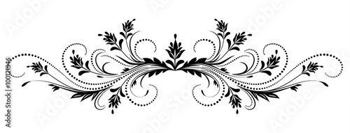 decorative floral ornament stock image and royalty free vector
