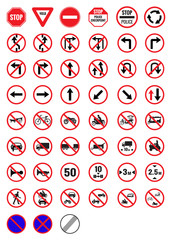 All Prohibition traffic signs  icon