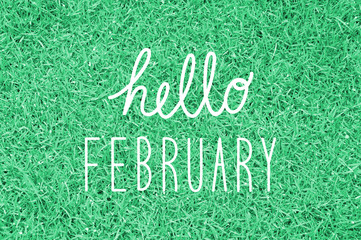 Hello February greeting