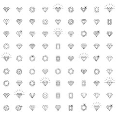 Diamonds, a large set of different versions of the diamond stone