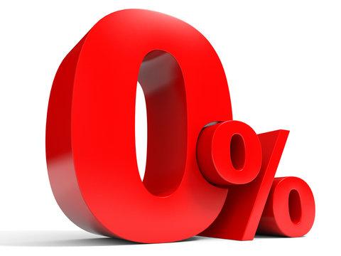 Red zero percent off. Discount 1%.