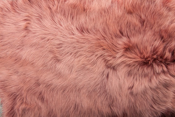 pink dyed sheepskin rug as a background