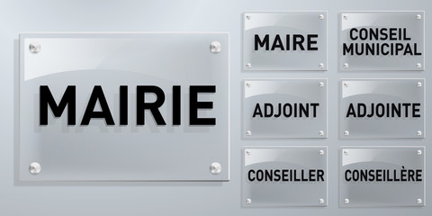 Mairie Plaques - organigramme