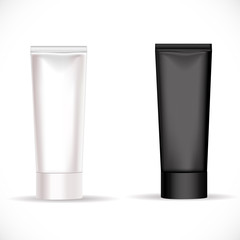 Black and white tube for cream or another cosmetic remedy