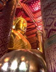 Buddha Image Of Luang Pho To At Wat Phanan Choeng, A Buddhist Temple In Ayutthaya Province, Thailand