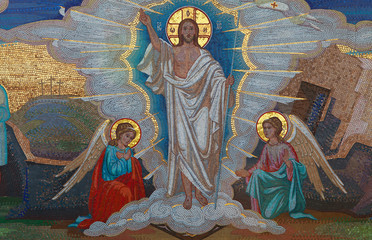Religion. Mosaic of Saints. Orthodox church in Kirowograd Ukraine
