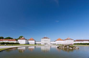 Fotomurales - München, Schloss Nymphenburg, Stadtseite mit Rondellbauten und