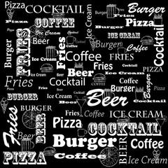 Меню для кафе и ресторанов быстрого питания