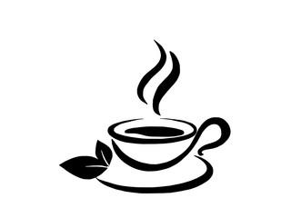 Чай травяной,  зеленый, контурное изображение
