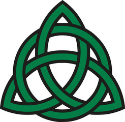 Celtic knot with outline