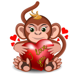 Love the little monkey with the heart