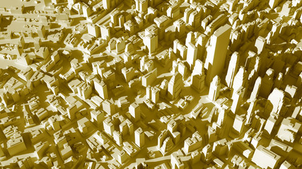 abstract city structure, background made of random buildings