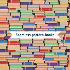 Seamless books pattern.