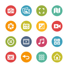 Web and Mobile Icons 5 -- Fresh Colors Series