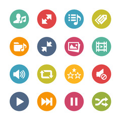 Web and Mobile Icons 7 -- Fresh Colors Series