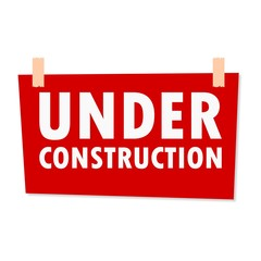 Under Construction Sign - illustration