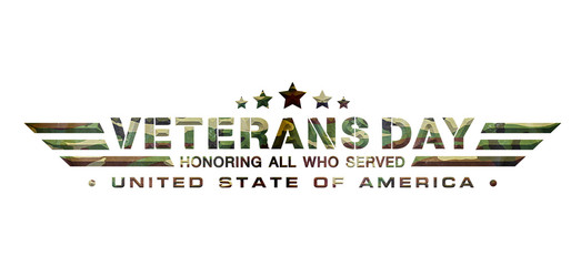 veterans day logo military camouflage background