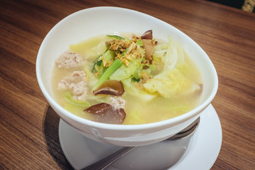 THAI Cabbage Soup with pork
