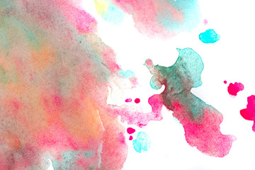 Children abstract watercolor painting.