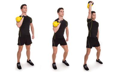 Kettle bell, Uni Push Press, Exercise