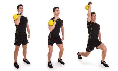 Kettlebell, Uni Split Jerk, Exercise
