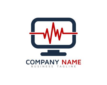 Computer Medic Logo Design Template
