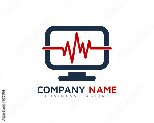 computer medic logo design template stock image and royalty free