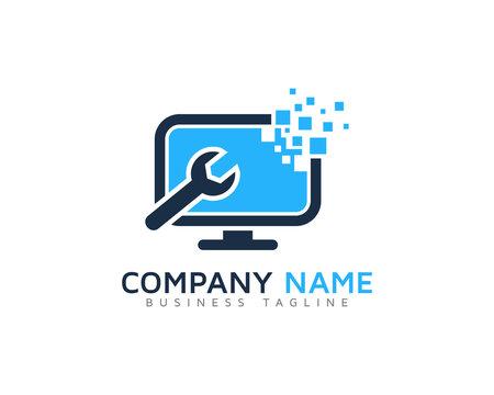 Computer Repair Logo Design Template