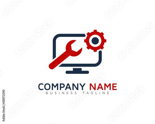 Computer Service Logo Design Images