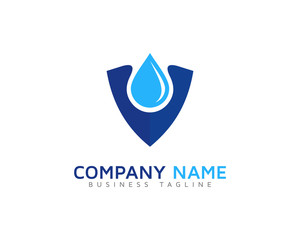 Water Safe Shield Logo Design Template