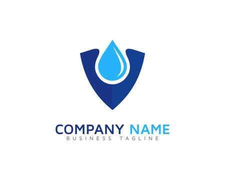 Water Safe Shield Logo Design Template