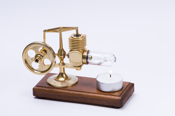 hot air stirling engine with candel