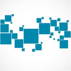 affiche,carré bleu