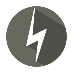 Vector illustration, flat design icon lightning circle, button, a symbol of the web.
