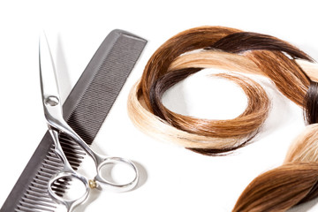 Assorted Hair Colors with Comb and Scissors