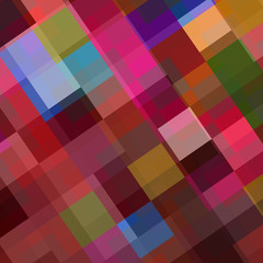 Abstract colorful background from squares. Vector illustration