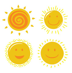 vector yellow sun