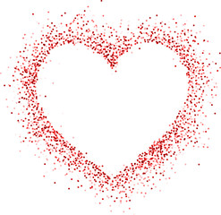Fototapete - Valentine love card.