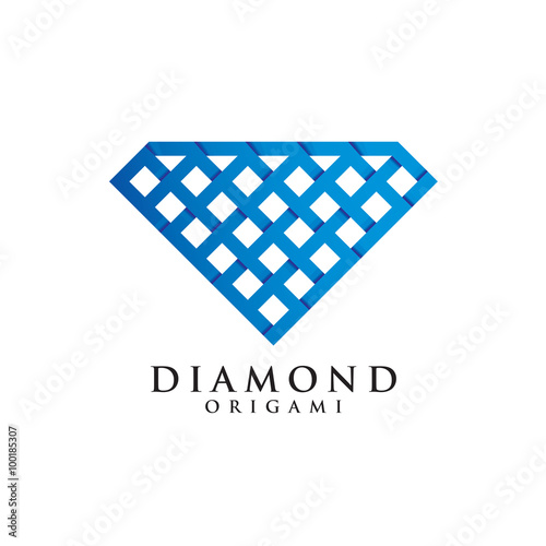 Diamond Origami Logo Icon