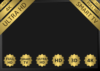 Golden TV labels