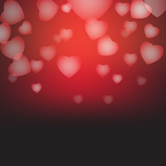hearts as background. valentines day concept vector illustration