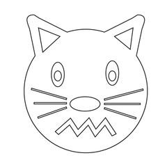 Cat Face emotion Icon Illustration sign design